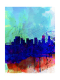 Portland Watercolor Skyline Print by  NaxArt