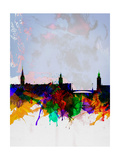 Stockholm Watercolor Skyline Posters by  NaxArt