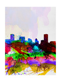 Baltimore Watercolor Skyline Prints by  NaxArt