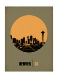 Denver Circle Poster 2 Print by  NaxArt