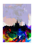 Moscow Watercolor Skyline Poster by  NaxArt