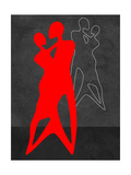 Red Couple Dance Prints by Felix Podgurski