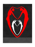 Red and White Heart Posters by Felix Podgurski