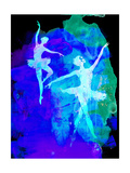 Two White Dancing Ballerinas Poster by Irina March