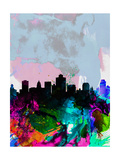 Salt Lake City Watercolor Skyline Prints by  NaxArt