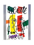 Liberte - J'ecris ton Nom, 1953 Giclée-trykk av Fernand Leger