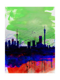 Johannesburg Watercolor Skyline Posters by  NaxArt