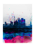 Tokyo Watercolor Skyline Prints by  NaxArt