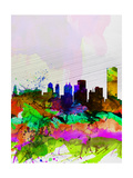 Buffalo Watercolor Skyline Posters by  NaxArt