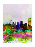 Buffalo Watercolor Skyline Posters by  NaxArt