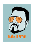 Mark it Zero Poster 1 Premium Giclee Print by Anna Malkin