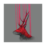 Wild Stag Giclee Print by Louise McNaught