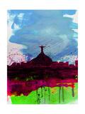 Rio Watercolor Skyline Affiches par  NaxArt