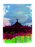 Rio Watercolor Skyline Prints by  NaxArt