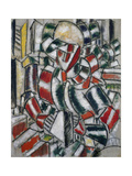 Woman in Red and Green, 1914 Gicléetryck av Fernand Leger