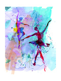 Two Dancing Ballerinas Watercolor 2 Prints by Irina March