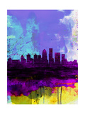 Louisville Watercolor Skyline Prints by  NaxArt