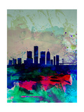 Detroit Watercolor Skyline Posters par  NaxArt