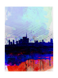 Milan Watercolor Skyline Prints by  NaxArt