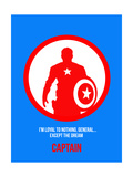 Captain Poster 2 Print by Anna Malkin