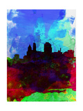 Cincinnati Watercolor Skyline Prints by  NaxArt