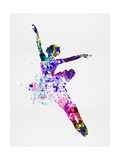 Flying Ballerina Watercolor 1 Premium giclée print van Irina March