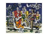 Leisure Time, Homage to Jacques-Louis David, 1948-49 Giclée-tryk af Fernand Leger