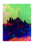 Pittsburgh Watercolor Skyline Prints by  NaxArt