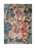 Bum De Bowery, January 1952 Giclée-trykk av Jean Dubuffet