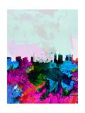Melbourne Watercolor Skyline Art par  NaxArt