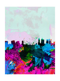 Melbourne Watercolor Skyline Art by  NaxArt