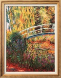 Japanese Bridge, Water Lily Pond Posters by Claude Monet