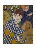 Women with Dog, 1891 Giclée-Druck von Pierre Bonnard