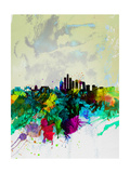 Beijing Watercolor Skyline Poster by  NaxArt