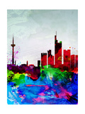 Frankfurt Watercolor Skyline Prints by  NaxArt