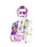 Anchorman Watercolor Print by Anna Malkin
