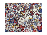 Untitled 1963 Giclee Print by Jean Dubuffet