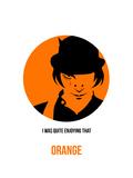 Orange Poster 1 Kunstdrucke von Anna Malkin