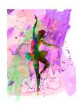 Ballerina Dancing Watercolor 1 Posters af Irina March