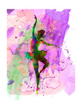 Ballerina Dancing Watercolor 1 Premium giclée print van Irina March