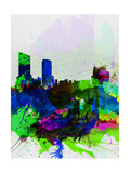 Grand Rapids Watercolor Skyline Prints by  NaxArt