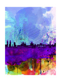 Madrid Watercolor Skyline Posters by  NaxArt