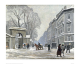 The Kongenshave in Winter Giclee Print by Paul Fischer
