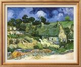 Thatched Cottages at Cordeville Prints by Vincent van Gogh