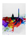 Washington DC Watercolor Skyline 1 Posters by  NaxArt
