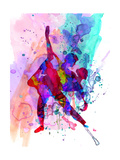 Romantic Ballet Watercolor 3 Premium giclée print van Irina March