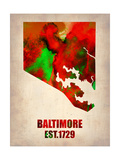 Baltimore Watercolor Map Posters by  NaxArt