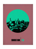 Houston Circle Poster 1 Prints by  NaxArt