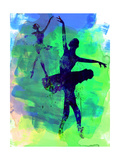 Two Dancing Ballerinas Watercolor 3 Premium giclée print van Irina March