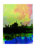 Milan Watercolor Skyline 2 Posters by  NaxArt